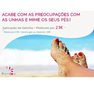 Pedicure com Verniz de Gel